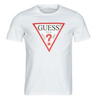Textil Muži Trička s krátkým rukávem Guess CN SS ORIGINAL LOGO TEE Bílá