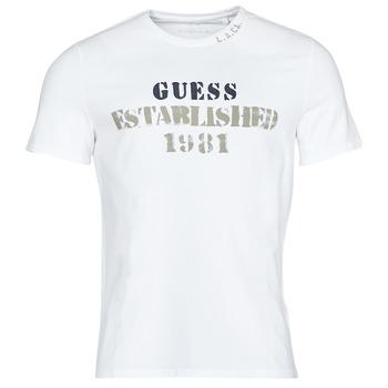 Textil Muži Trička s krátkým rukávem Guess WORKFOR CN SS TEE Bílá