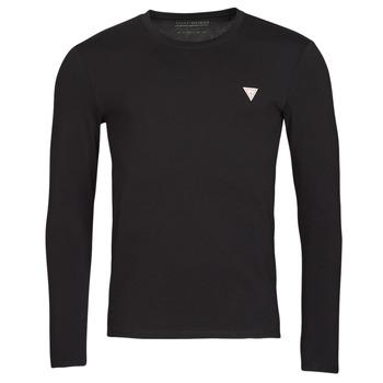 Textil Muži Trička s dlouhými rukávy Guess CN LS CORE TEE Černá