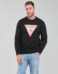 Textil Muži Mikiny Guess AUDLEY CN FLEECE Černá