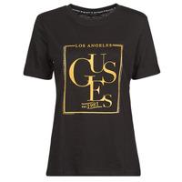 Textil Ženy Trička s krátkým rukávem Guess SS CN SIMONNE TEE Černá