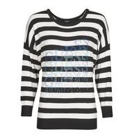 Textil Ženy Svetry Guess CLAUDINE BAT SLEEVE SWTR Černá / Bílá
