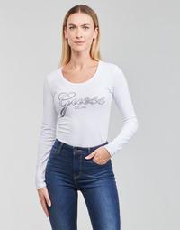 Textil Ženy Trička s dlouhými rukávy Guess LS CN RAISA TEE Bílá
