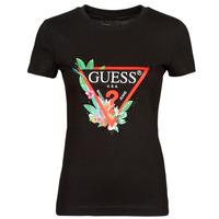 Textil Ženy Trička s krátkým rukávem Guess SS CN NORA TEE Černá
