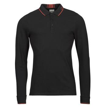 Textil Muži Polo s dlouhými rukávy Guess STU LS POLO Černá