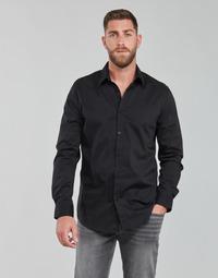 Textil Muži Košile s dlouhymi rukávy Guess LS SUNSET SHIRT Černá