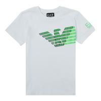 Textil Chlapecké Trička s krátkým rukávem Emporio Armani EA7 THAMIA Bílá / Zelená