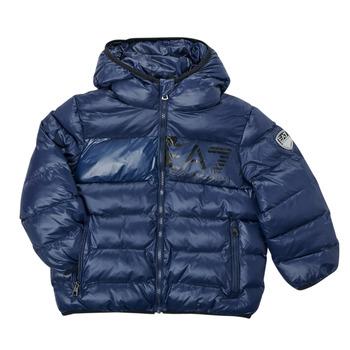 Textil Chlapecké Prošívané bundy Emporio Armani EA7 TREDA Tmavě modrá