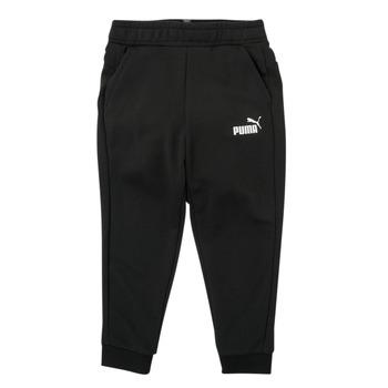 Textil Chlapecké Teplákové kalhoty Puma ESSENTIAL SLIM PANT Černá