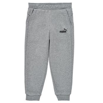Textil Chlapecké Teplákové kalhoty Puma ESSENTIAL SLIM PANT Šedá