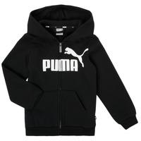 Textil Chlapecké Mikiny Puma ESSENTIAL BIG LOGO FZ HOODIE Černá