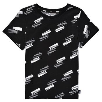 Textil Chlapecké Trička s krátkým rukávem Puma PUMA POWER AOP TEE Černá
