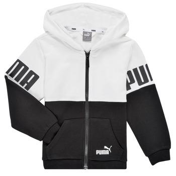 Textil Chlapecké Mikiny Puma PUMA POWER FZ HOODIE Černá / Bílá