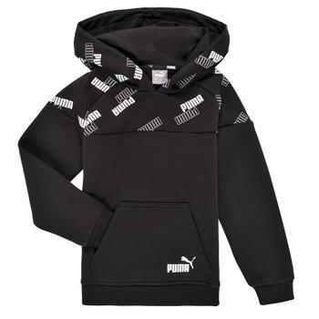 Textil Chlapecké Mikiny Puma PUMA POWER AOP HOODIE Černá
