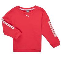 Textil Dívčí Mikiny Puma ALPHA CREW SWEAT Růžová