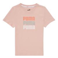 Textil Dívčí Trička s krátkým rukávem Puma ALPHA TEE Růžová
