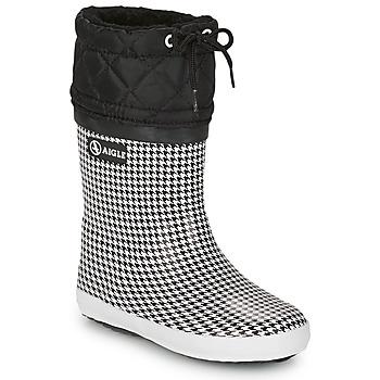 Boty Dívčí Zimní boty Aigle GIBOULEE PRINT Černá / Bílá