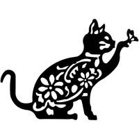 Bydlení Obrazy, plátna Signes Grimalt Stěna Ornament Cat Negro