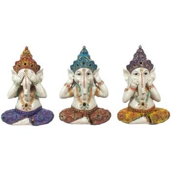 Bydlení Sošky a figurky Signes Grimalt Obrázek Ganesha 3 Jednotky Multicolor