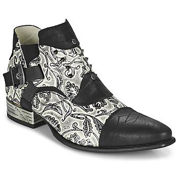 Boty Muži Šněrovací polobotky  New Rock M-NW135-C12 Bílá / Černá