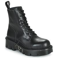 Boty Kotníkové boty New Rock M-MILI084N-S3 Černá