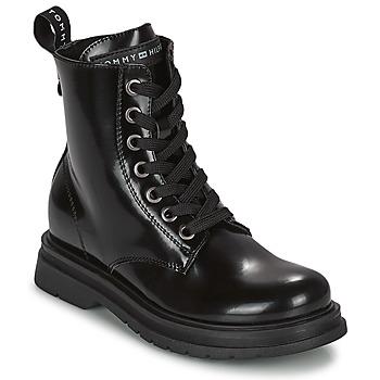 Boty Dívčí Kotníkové boty Tommy Hilfiger T4A5-32009-0776999 Tmavě modrá