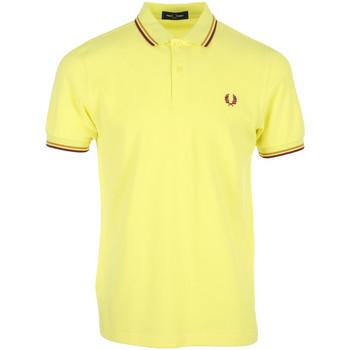 Textil Muži Polo s krátkými rukávy Fred Perry Twin Tipped Shirt Žlutá