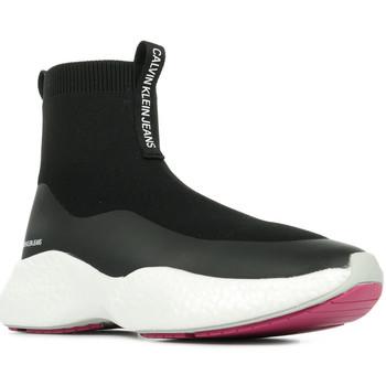 Boty Ženy Kotníkové tenisky Calvin Klein Jeans Runner Sneaker Sock Černá