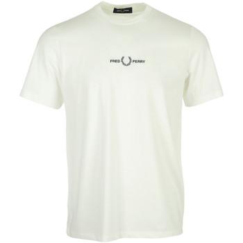 Textil Muži Trička s krátkým rukávem Fred Perry Embroidered T-Shirt Béžová