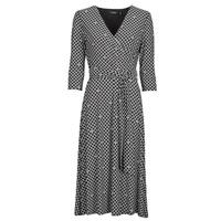 Textil Ženy Společenské šaty Lauren Ralph Lauren CARLYNA-3/4 SLEEVE-DAY DRESS Černá