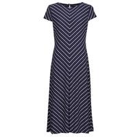 Textil Ženy Společenské šaty Lauren Ralph Lauren PIPPA-CAP SLEEVE-DAY DRESS Modrá