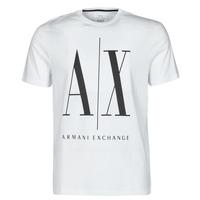 Textil Muži Trička s krátkým rukávem Armani Exchange HULO Bílá