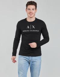 Textil Muži Trička s dlouhými rukávy Armani Exchange 8NZTCH Černá