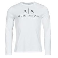 Textil Muži Trička s dlouhými rukávy Armani Exchange 8NZTCH Bílá