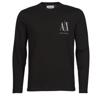 Textil Muži Trička s dlouhými rukávy Armani Exchange 8NZTPL Černá