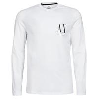 Textil Muži Trička s dlouhými rukávy Armani Exchange 8NZTPL Bílá