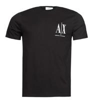 Textil Muži Trička s krátkým rukávem Armani Exchange 8NZTPH Černá