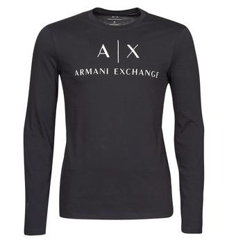 Textil Muži Trička s dlouhými rukávy Armani Exchange 8NZTCH Tmavě modrá