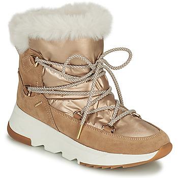 Boty Ženy Zimní boty Geox FALENA Béžová / Zlatá