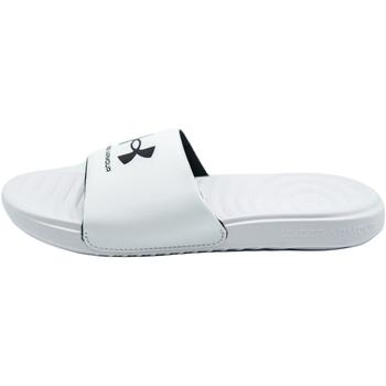 Boty pantofle Under Armour Ansa Fixed Slides Bílý