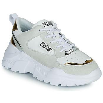 Boty Ženy Nízké tenisky Versace Jeans Couture FREMMI Bílá / Zlatá / Stříbřitá