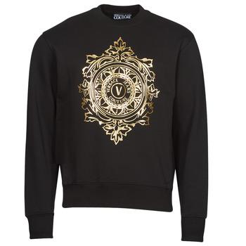 Textil Muži Mikiny Versace Jeans Couture VEMBLEM LEAF Černá / Zlatá