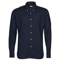 Textil Muži Košile s dlouhymi rukávy U.S Polo Assn. DIRK 51371 EH03 Tmavě modrá
