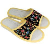 Boty Ženy Papuče John-C Dámske čierno-žlté papuče NINA čierna