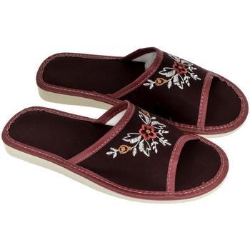 Boty Ženy Papuče John-C Dámske bordové papuče ELA bordová