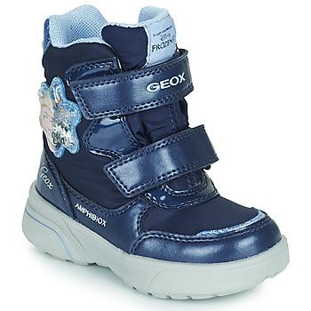 Boty Dívčí Zimní boty Geox SVEGGEN ABX Tmavě modrá