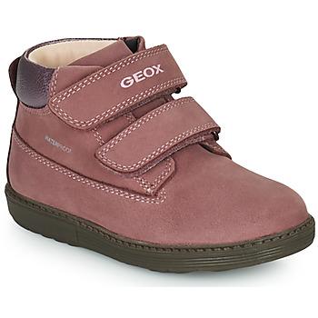 Boty Dívčí Kotníkové boty Geox HYNDE WPF Růžová