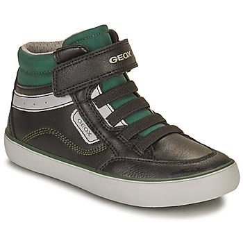 Boty Chlapecké Kotníkové tenisky Geox GISL Černá / Zelená
