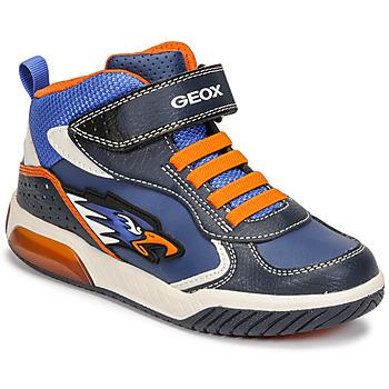 Boty Chlapecké Kotníkové tenisky Geox INEK Modrá / Oranžová