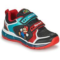 Boty Chlapecké Nízké tenisky Geox ANDROID Černá / Modrá / Červená
